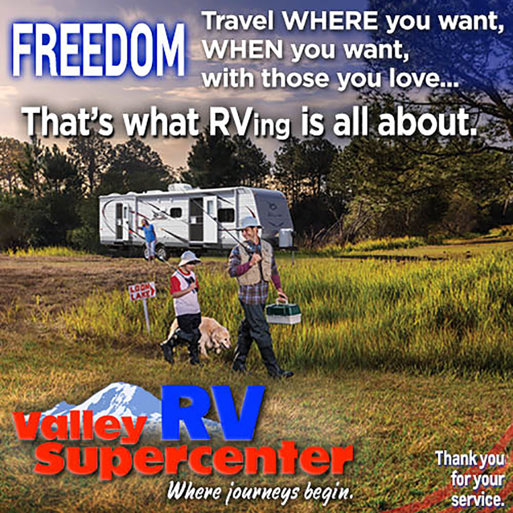 Side ad: Valley RV Supercenter