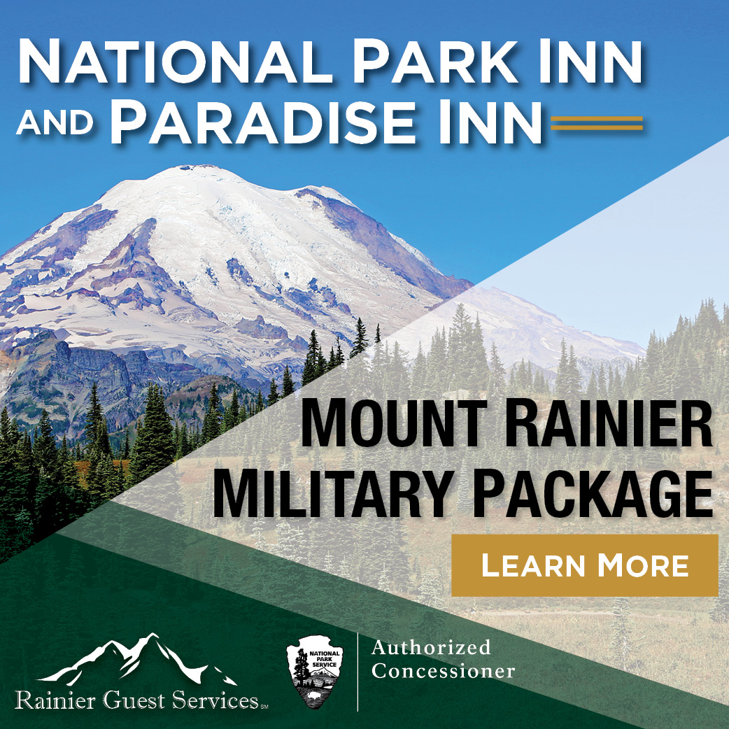 Side ad: Mt Rainier Guest Services